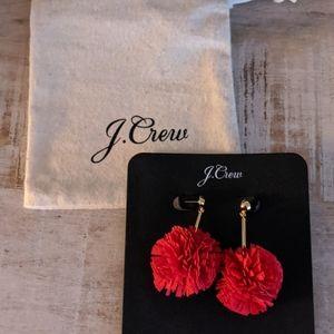 J. Crew Pom Pom earrings